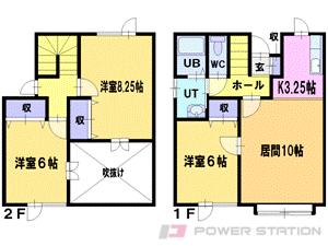 札幌市清田区北野4条4丁目0テラスハウス間取図面