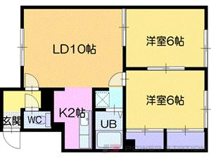 札幌市清田区平岡8条2丁目0賃貸アパート間取図面