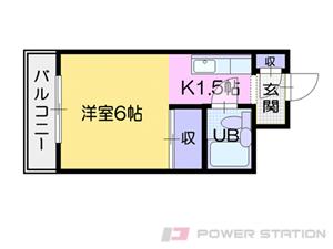 札幌市清田区清田2条1丁目0賃貸マンション間取図面