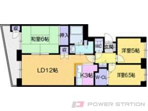 札幌市清田区北野1条2丁目0分譲リースマンション間取図面