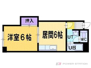 札幌市清田区北野2条3丁目0賃貸マンション間取図面
