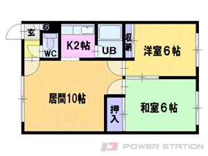 札幌市清田区北野3条5丁目1賃貸アパート間取図面