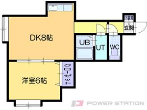 札幌市清田区北野3条5丁目0賃貸アパート間取図面