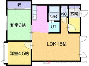 札幌市清田区平岡4条1丁目0賃貸アパート間取図面