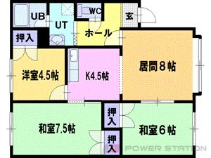 札幌市清田区平岡5条2丁目1賃貸アパート間取図面