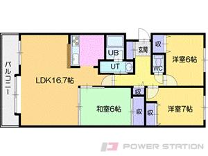 札幌市清田区平岡5条2丁目1分譲リースマンション間取図面