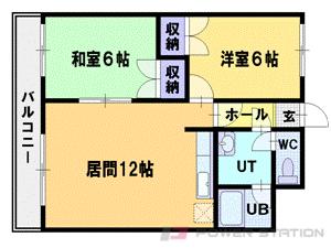 札幌市清田区平岡5条3丁目0賃貸マンション間取図面