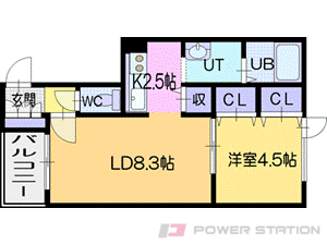 札幌市清田区清田3条1丁目0賃貸アパート間取図面
