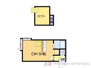 札幌市清田区清田2条1丁目1賃貸アパート間取図面