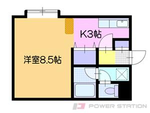 札幌市清田区清田2条2丁目0賃貸マンション間取図面