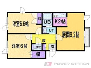 福住2LDKアパート図面