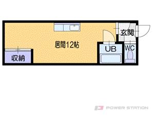 福住1Rアパート図面