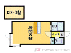 札幌市清田区清田3条1丁目1賃貸アパート間取図面