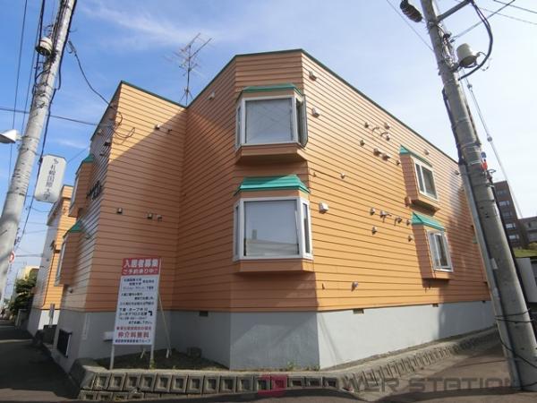 札幌市清田区清田4条1丁目0賃貸アパート外観写真