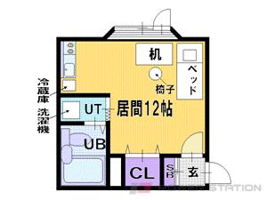 札幌市清田区清田4条1丁目0賃貸アパート間取図面