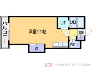 札幌市清田区清田2条3丁目0賃貸マンション間取図面