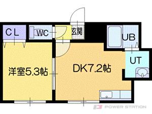 札幌市清田区平岡2条1丁目0賃貸アパート間取図面