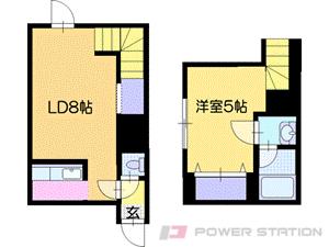 札幌市清田区平岡3条2丁目0賃貸アパート間取図面
