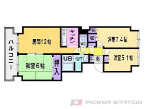 札幌市清田区真栄1条1丁目0分譲リースマンション間取図面