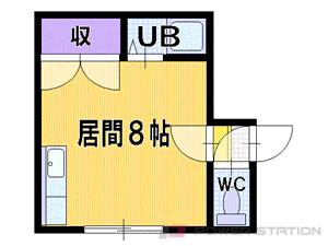 札幌市清田区真栄1条1丁目0賃貸アパート間取図面