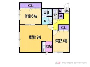 札幌市清田区清田1条4丁目0賃貸アパート間取図面