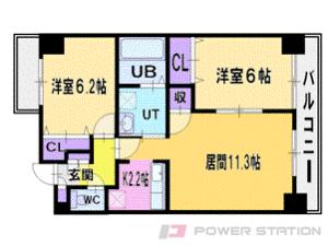 札幌市清田区平岡1条1丁目0賃貸マンション間取図面