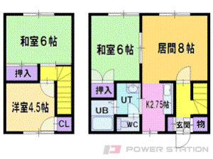 札幌市清田区平岡2条2丁目0賃貸アパート間取図面