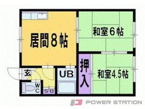 札幌市清田区平岡2条3丁目0賃貸アパート間取図面
