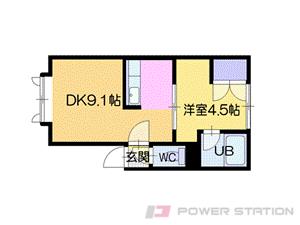 札幌市清田区平岡2条4丁目0賃貸アパート間取図面