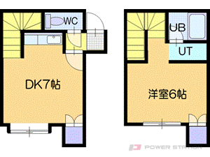 札幌市清田区平岡3条4丁目0賃貸アパート間取図面
