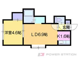 札幌市清田区平岡3条4丁目1賃貸アパート間取図面