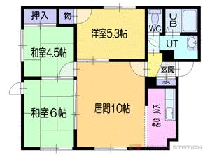 札幌市清田区清田7条1丁目0賃貸アパート間取図面