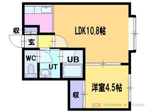 札幌市清田区清田6条3丁目1賃貸アパート間取図面