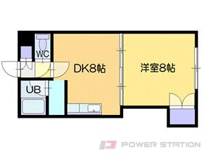 札幌市清田区真栄2条1丁目1賃貸マンション間取図面