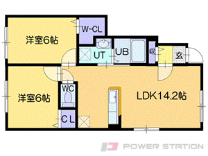 札幌市清田区里塚2条2丁目01賃貸アパート間取図面