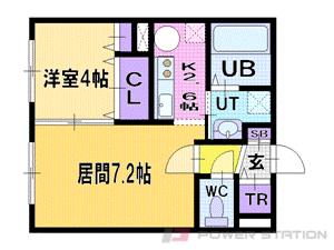札幌市清田区真栄1条2丁目0賃貸マンション間取図面