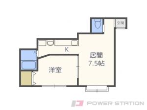 札幌市清田区真栄1条2丁目1賃貸マンション間取図面