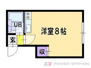 札幌市清田区平岡1条2丁目1賃貸アパート間取図面