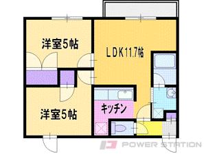 札幌市清田区平岡1条2丁目1賃貸マンション間取図面