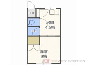 札幌市清田区平岡1条3丁目0賃貸アパート間取図面