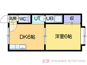 札幌市清田区真栄1条2丁目0賃貸アパート間取図面