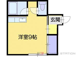 大谷地1Rアパート図面