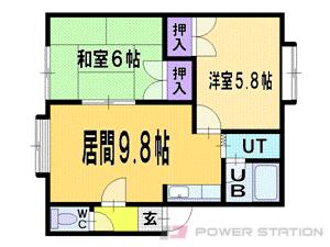 札幌市清田区平岡2条4丁目1賃貸アパート間取図面