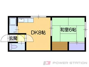 札幌市清田区平岡1条4丁目0賃貸アパート間取図面