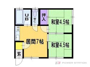 札幌市清田区清田7条3丁目0賃貸アパート間取図面