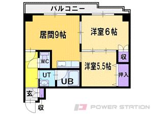 札幌市清田区美しが丘2条2丁目0賃貸マンション間取図面