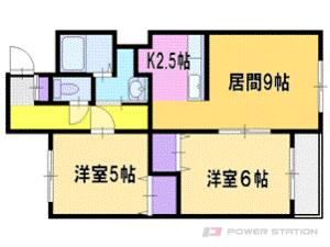 札幌市清田区真栄2条2丁目1賃貸マンション間取図面