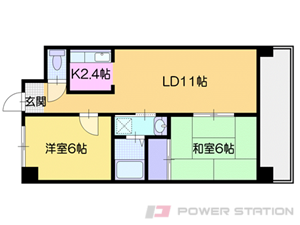 札幌市清田区真栄4条2丁目1賃貸マンション間取図面
