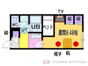 札幌市清田区真栄5条1丁目0賃貸アパート間取図面