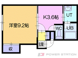 札幌市清田区真栄5条2丁目0賃貸アパート間取図面